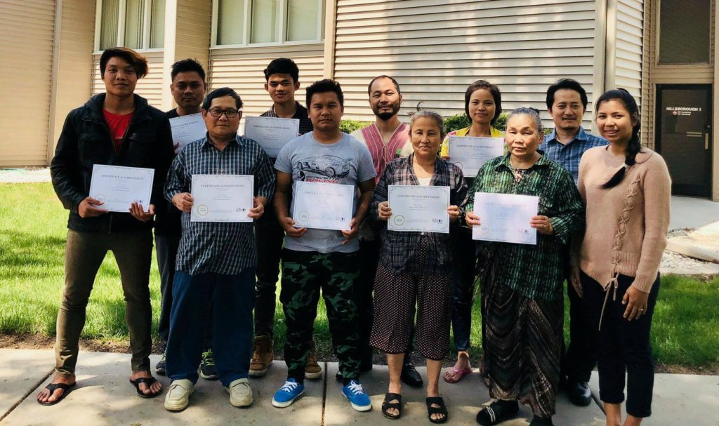 KOM's ESL students graduated from the KTFP classes on May 18, 2018